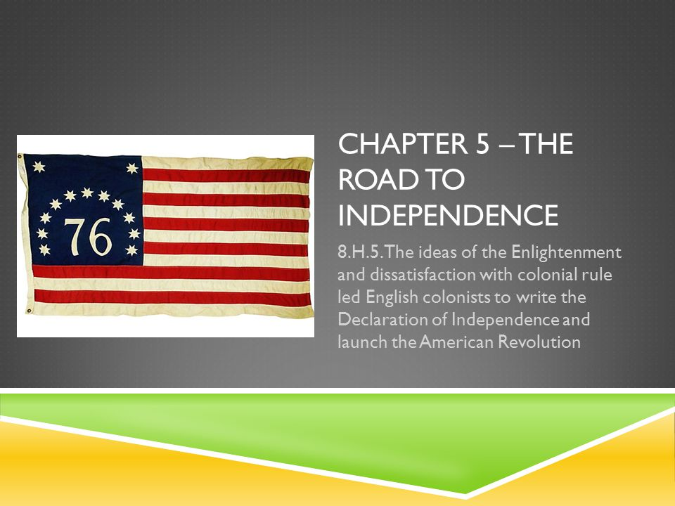Chapter 5 – The Road to Independence