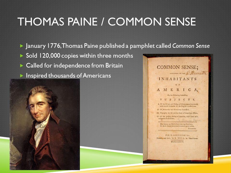 Thomas Paine / Common Sense