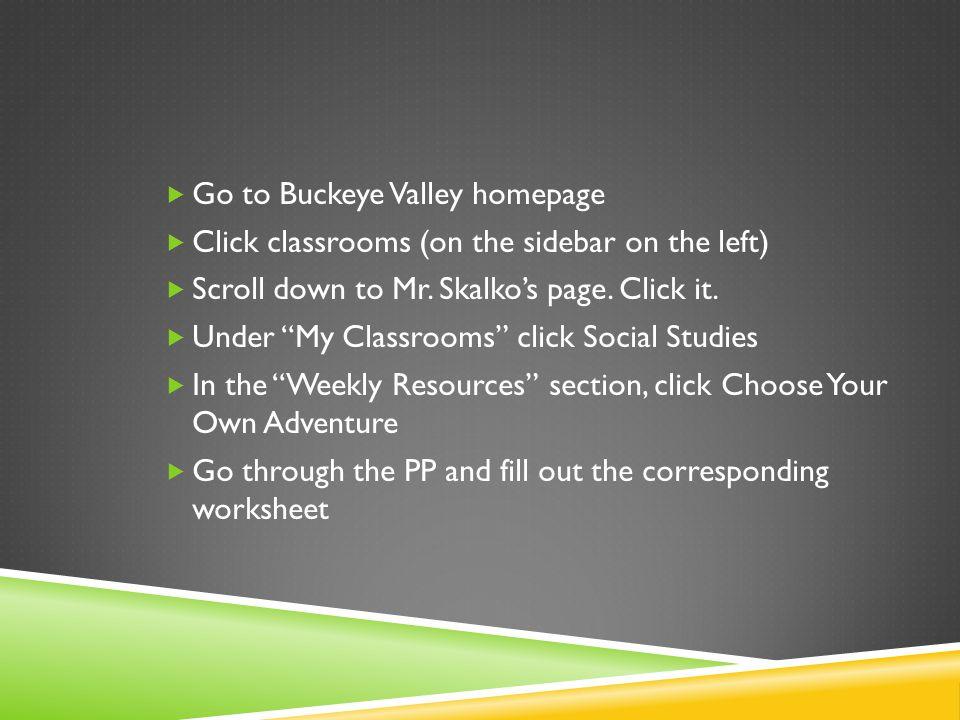 Go to Buckeye Valley homepage