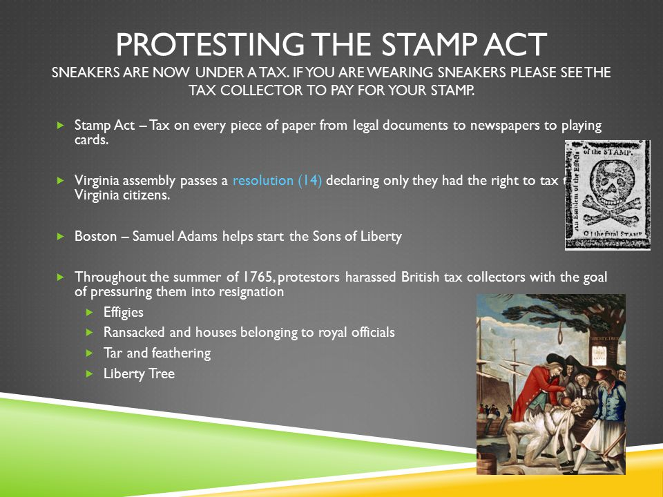Protesting the stamp act sneakers are now under a tax