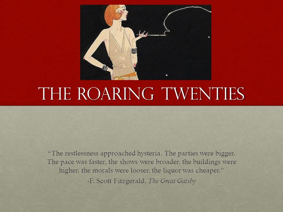 -F. Scott Fitzgerald, The Great Gatsby