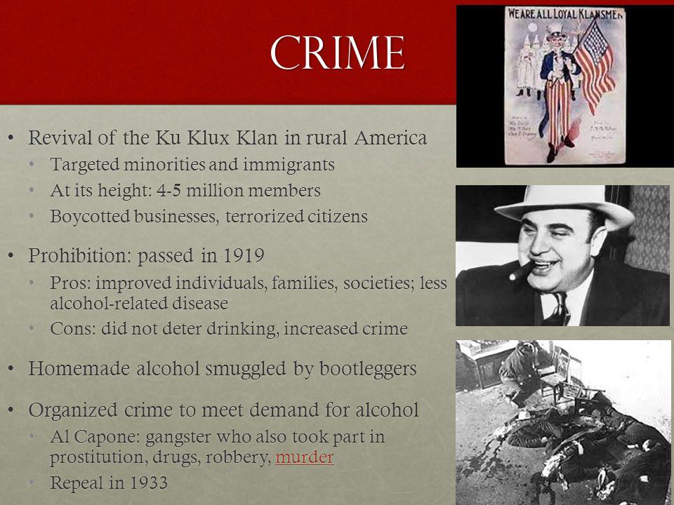 Crime Revival of the Ku Klux Klan in rural America