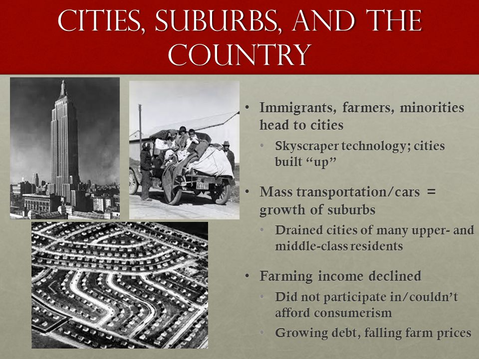 Cities, Suburbs, and THE Country