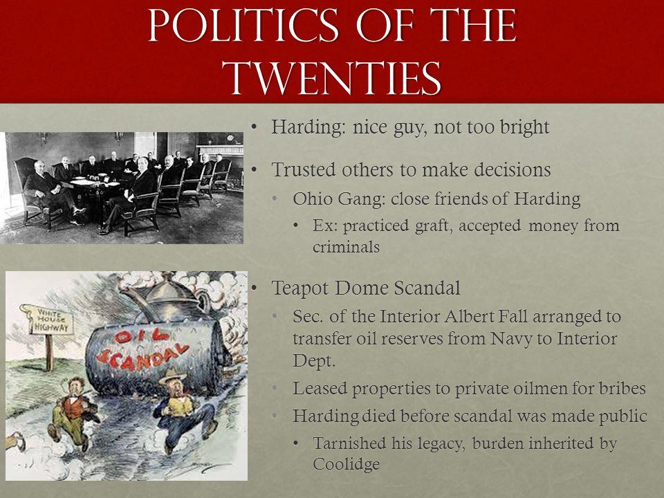 POLITICS OF THE TWENTIES