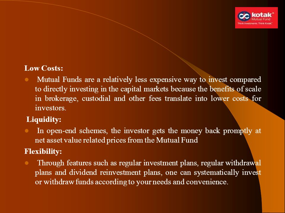 Low Costs: