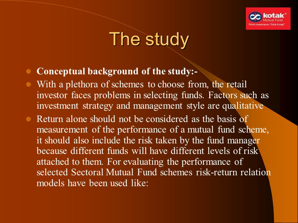 The study Conceptual background of the study:-