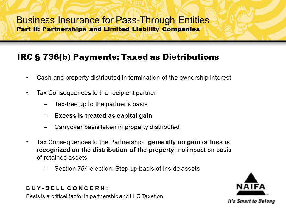 IRC § 736(b) Payments: Taxed as Distributions