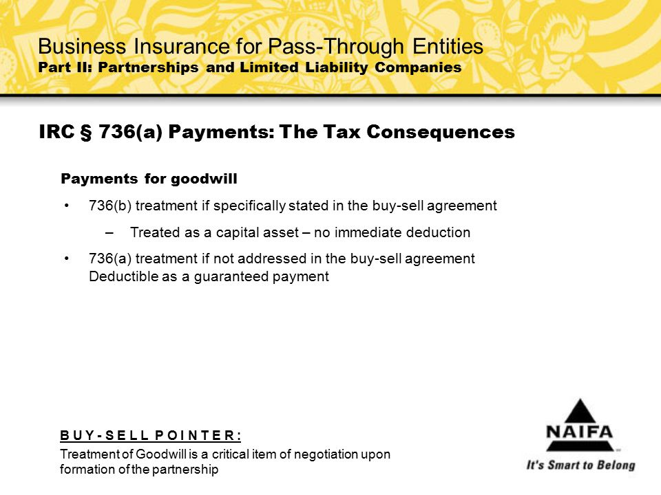IRC § 736(a) Payments: The Tax Consequences