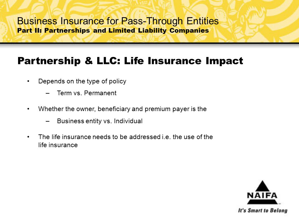 Partnership & LLC: Life Insurance Impact