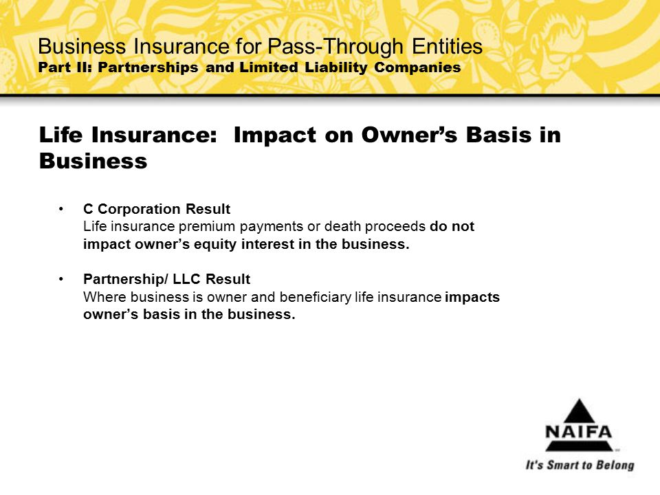Life Insurance: Impact on Owner's Basis in Business
