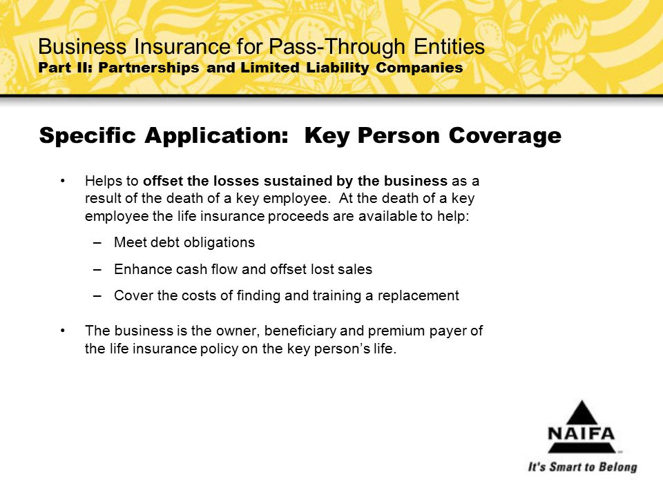 Specific Application: Key Person Coverage