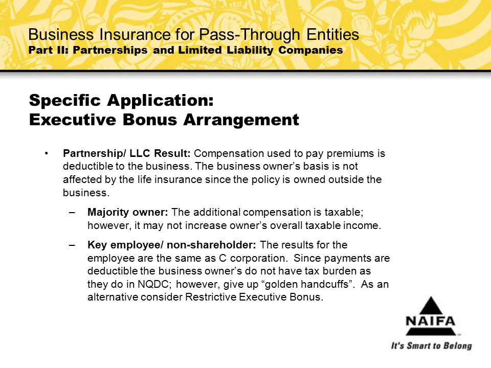 Specific Application: Executive Bonus Arrangement