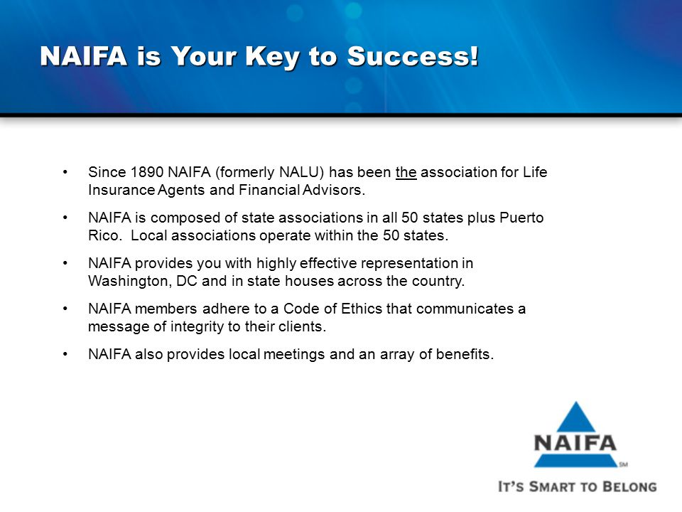 NAIFA is Your Key to Success!