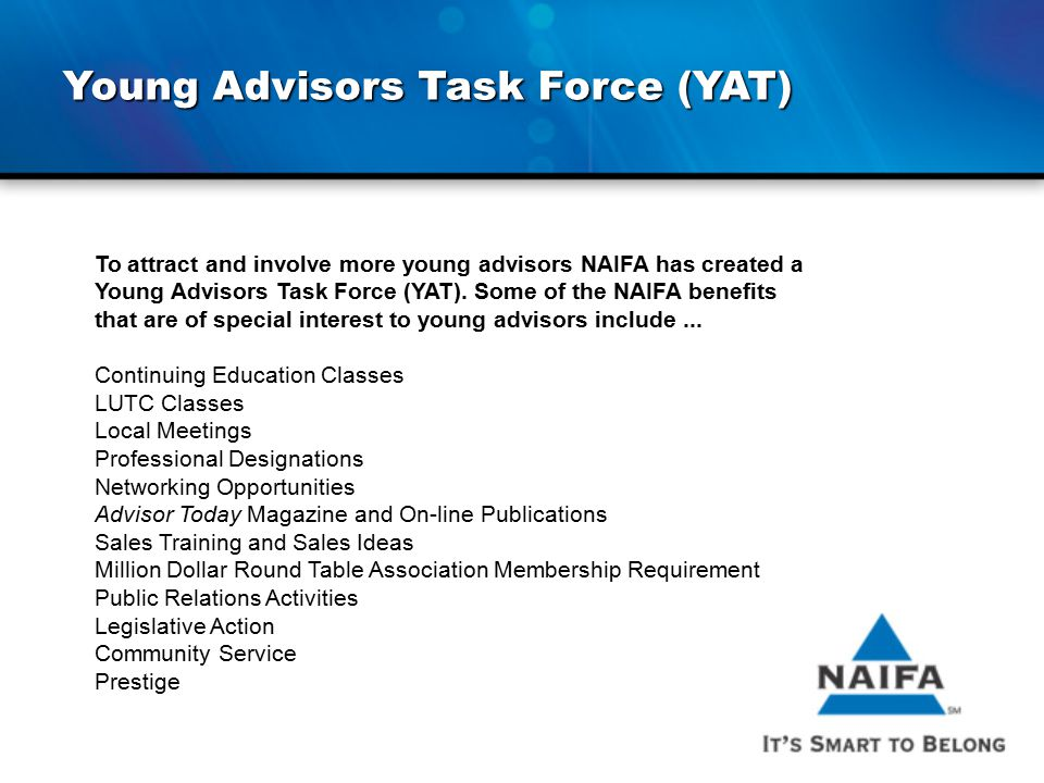 Young Advisors Task Force (YAT)
