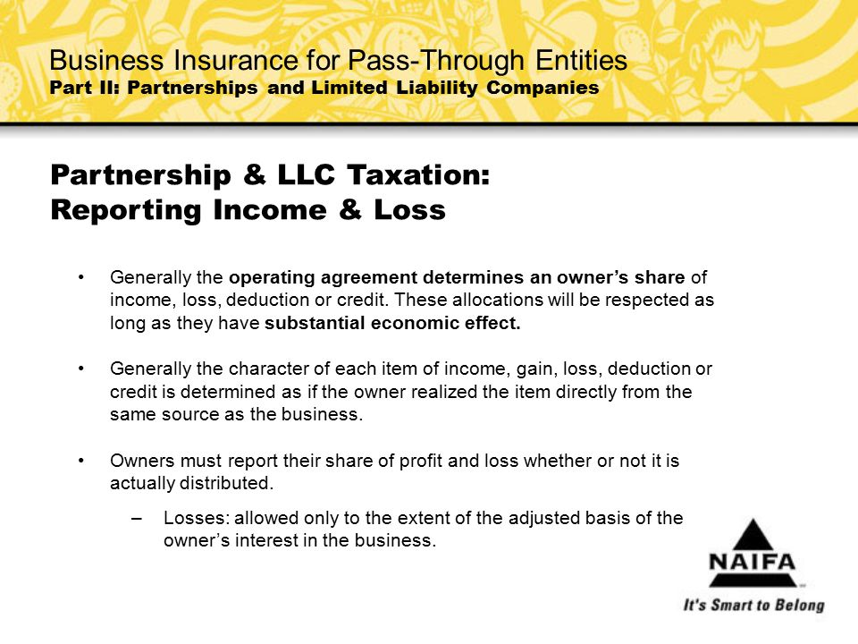 Partnership & LLC Taxation: Reporting Income & Loss