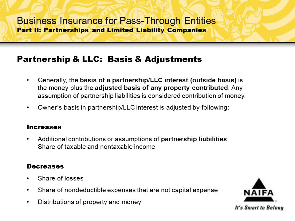 Partnership & LLC: Basis & Adjustments