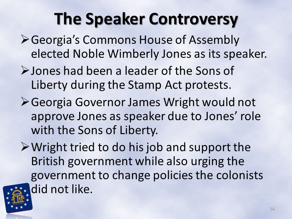 The Speaker Controversy