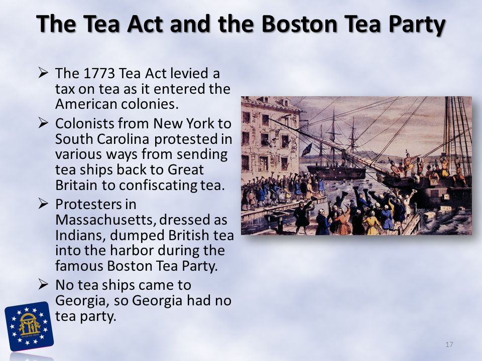 The Tea Act and the Boston Tea Party