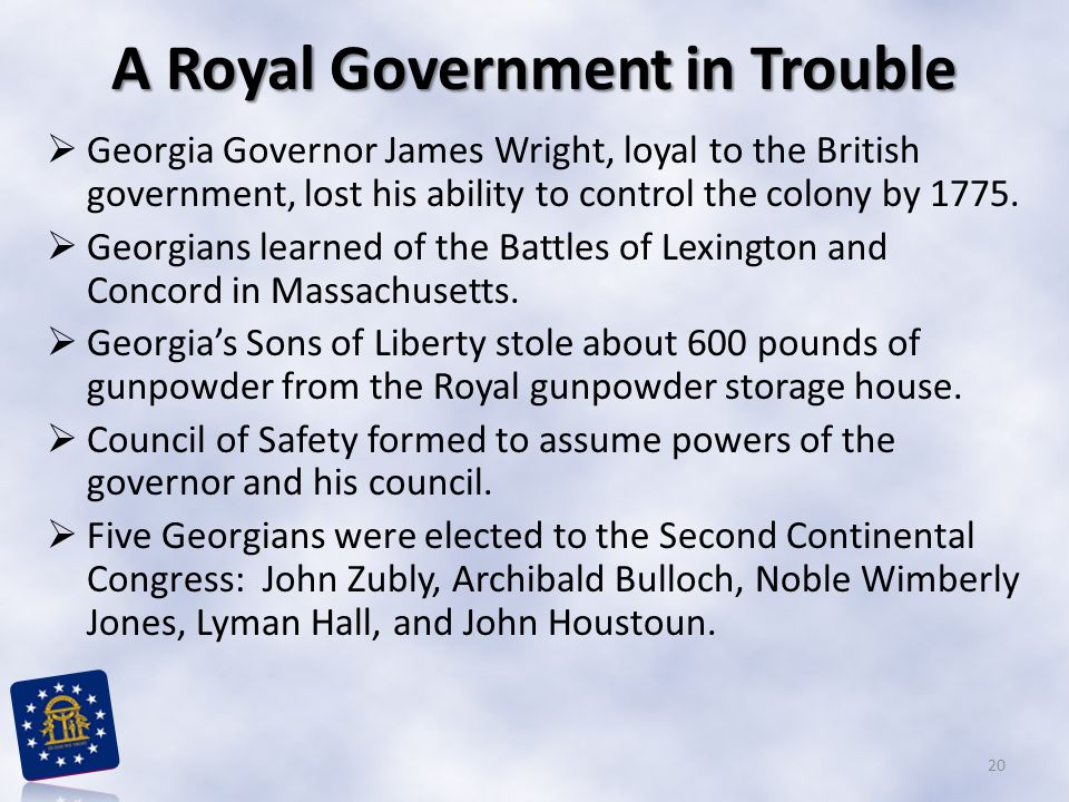 A Royal Government in Trouble
