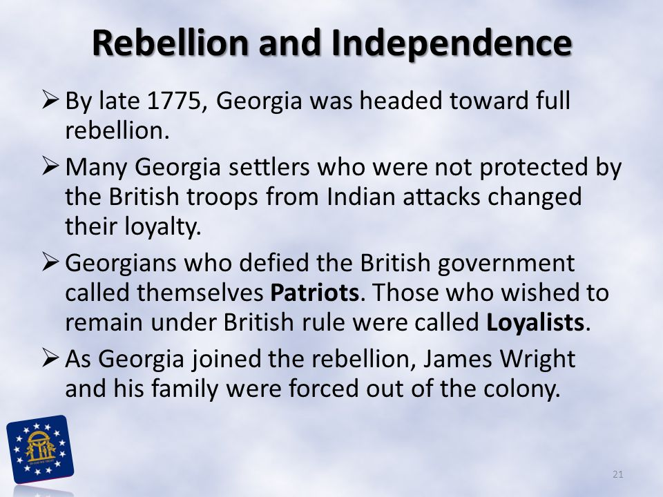 Rebellion and Independence