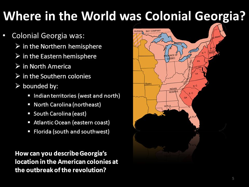 Where in the World was Colonial Georgia