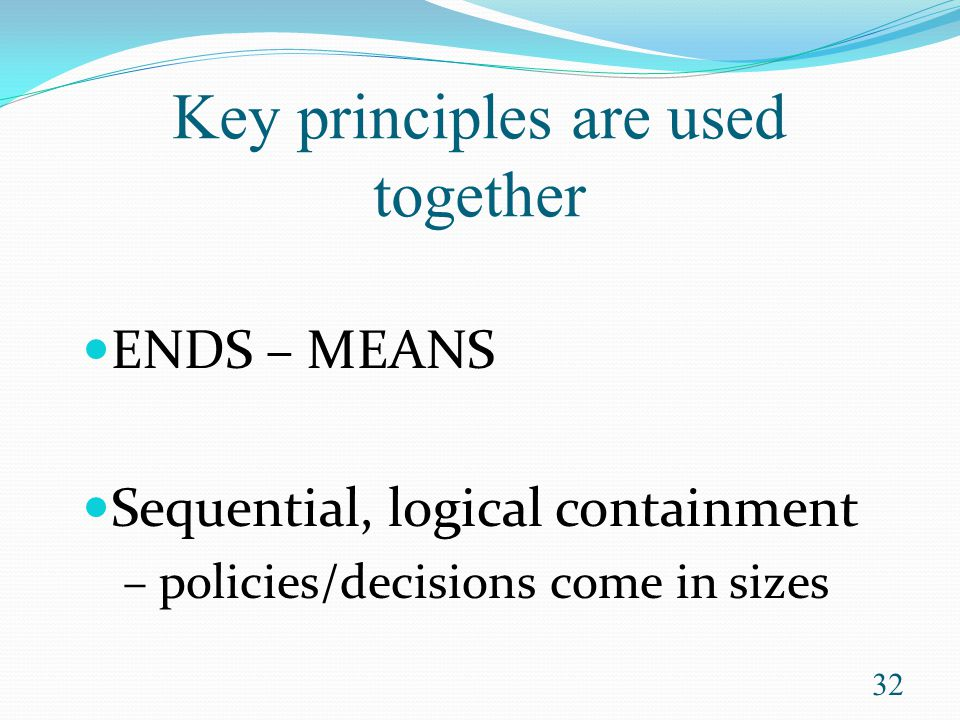 Key principles are used together