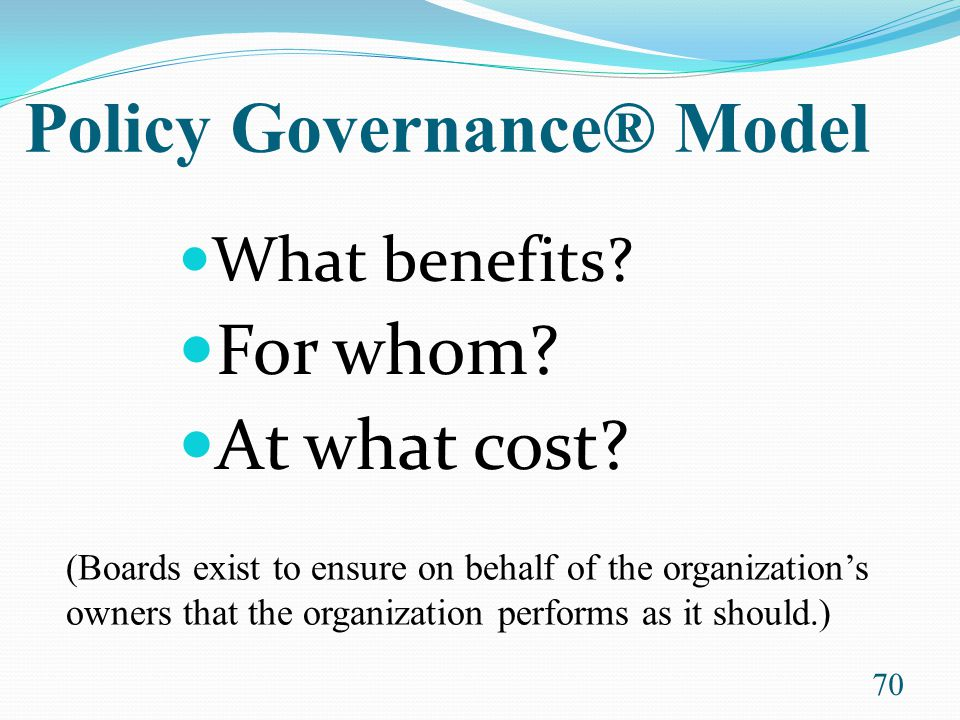 Policy Governance® Model