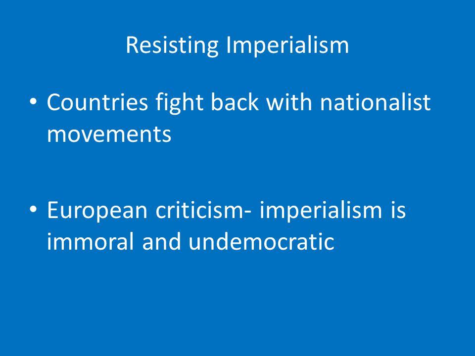Resisting Imperialism