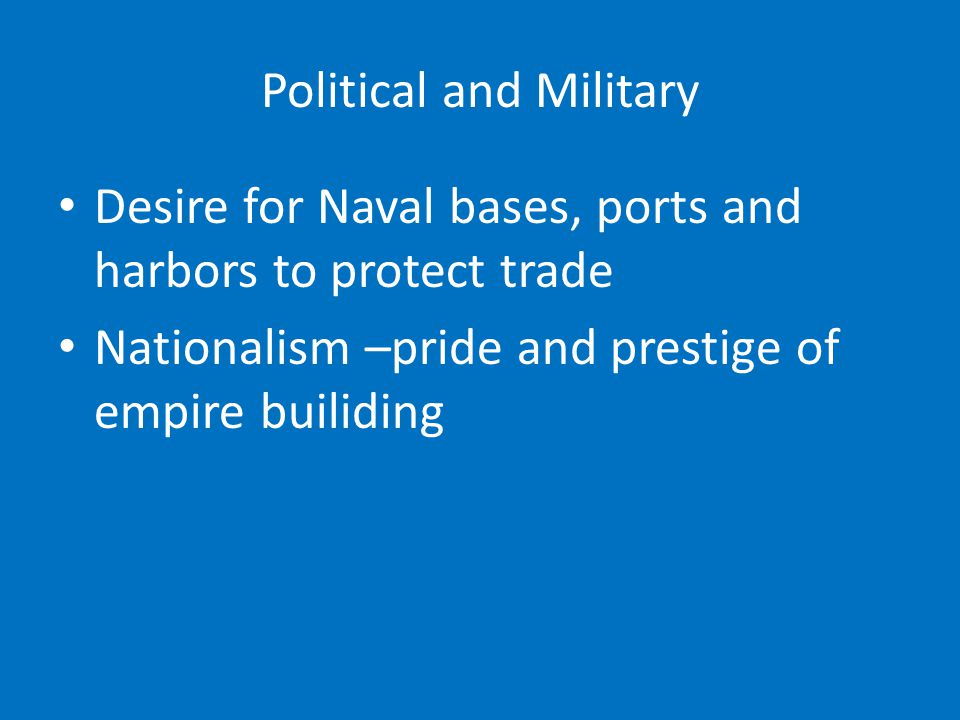Political and Military