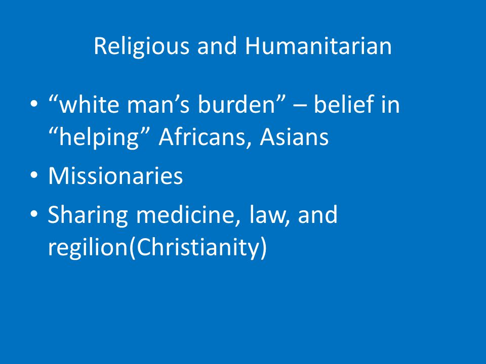 Religious and Humanitarian