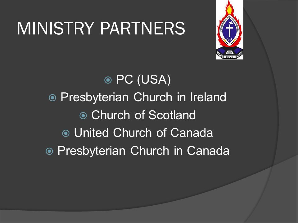MINISTRY PARTNERS PC (USA) Presbyterian Church in Ireland