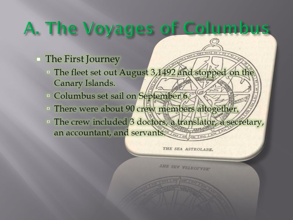 A. The Voyages of Columbus
