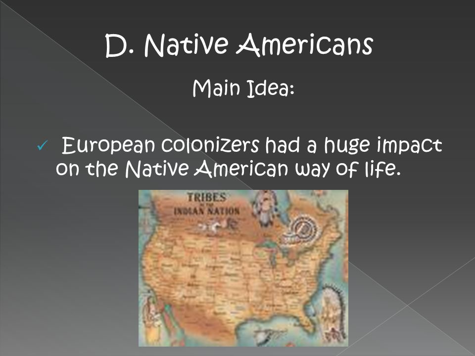 D. Native Americans Main Idea: