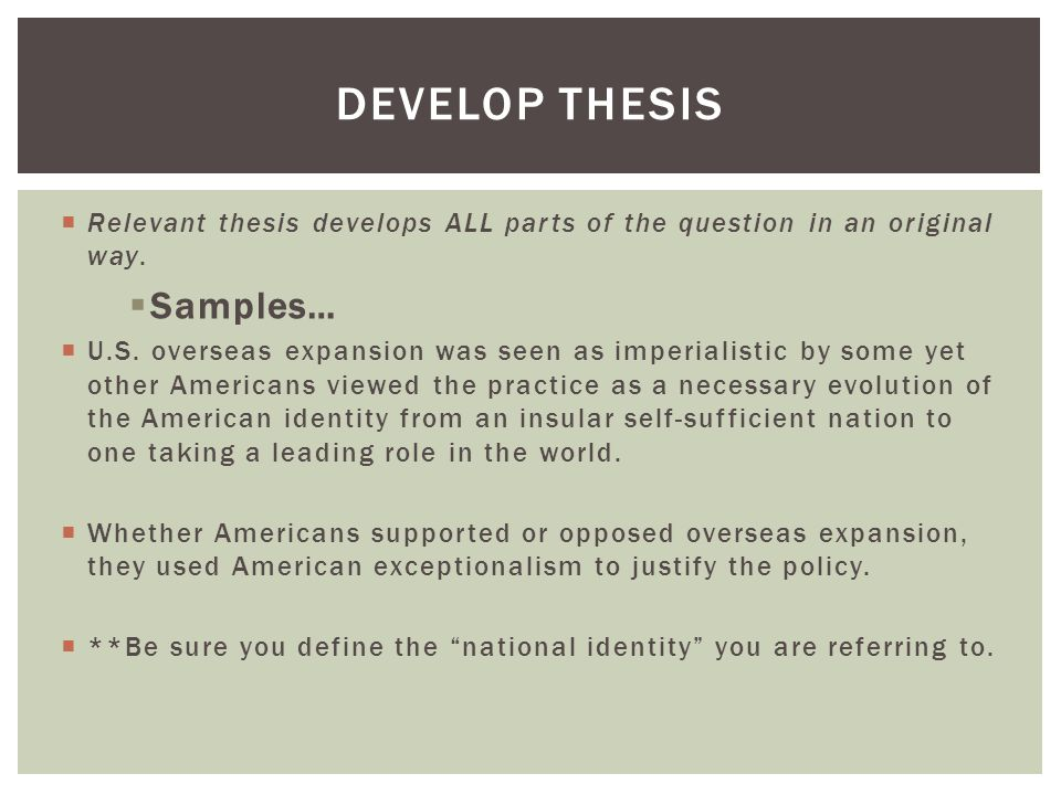 Develop Thesis Samples…