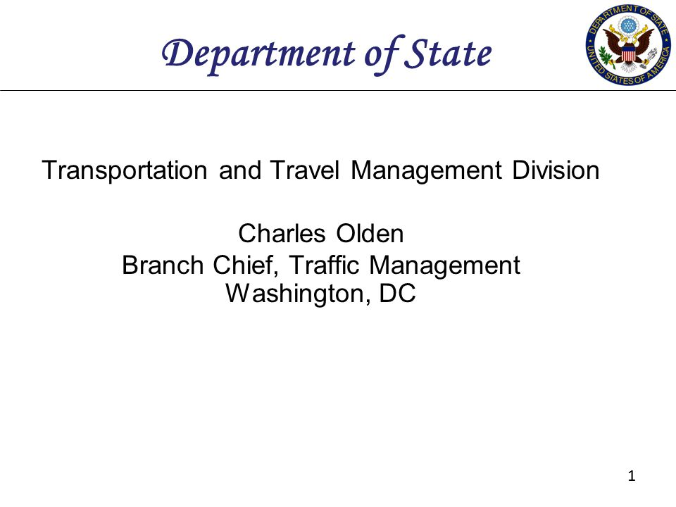 Department of State Transportation and Travel Management Division