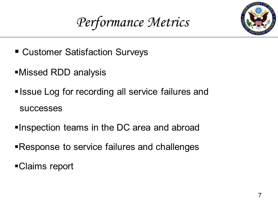 Performance Metrics Customer Satisfaction Surveys Missed RDD analysis