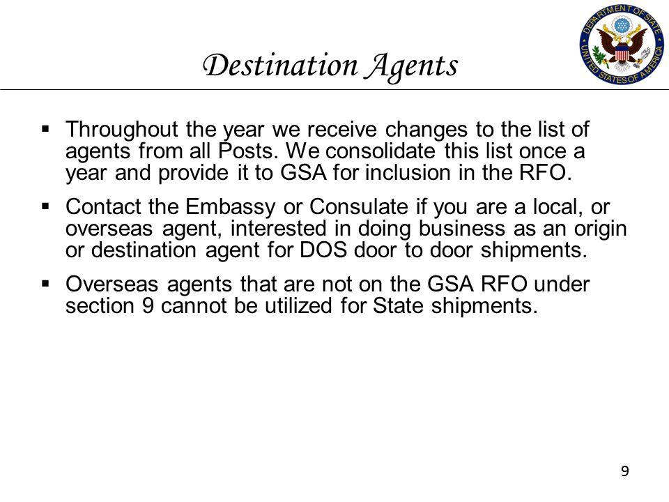 Destination Agents