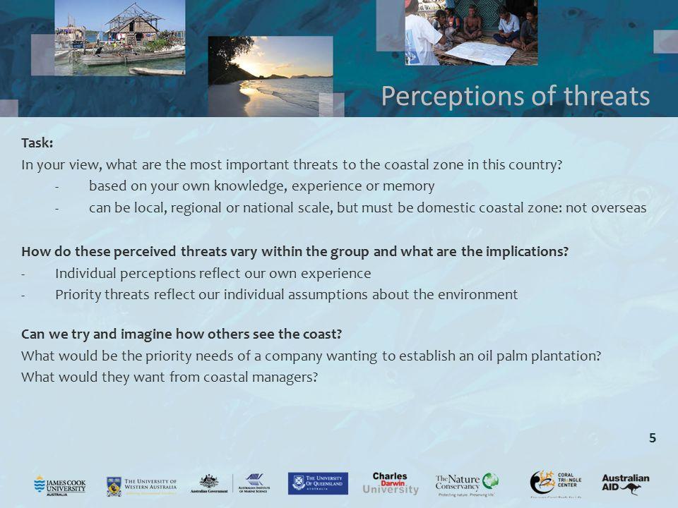 Perceptions of threats