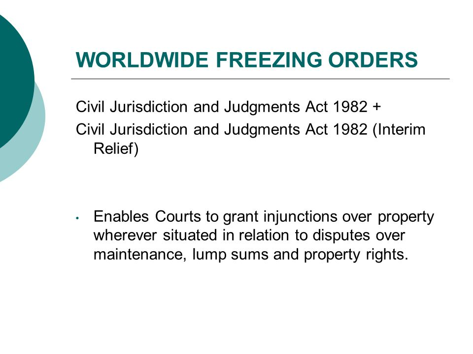 WORLDWIDE FREEZING ORDERS