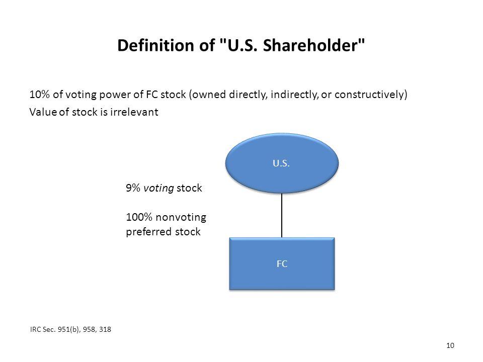 Definition of U.S. Shareholder