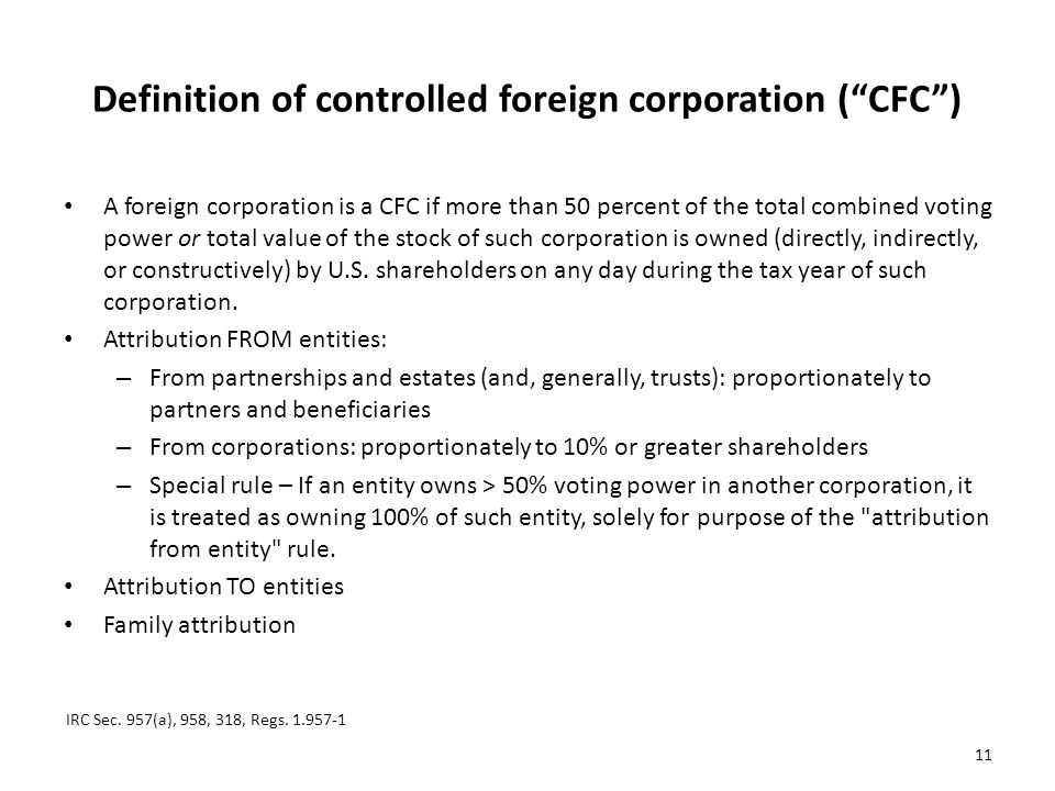 Definition of controlled foreign corporation ( CFC )