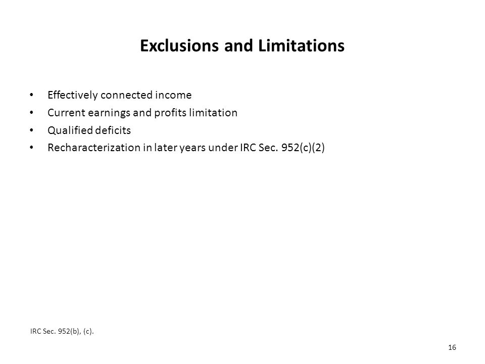 Exclusions and Limitations