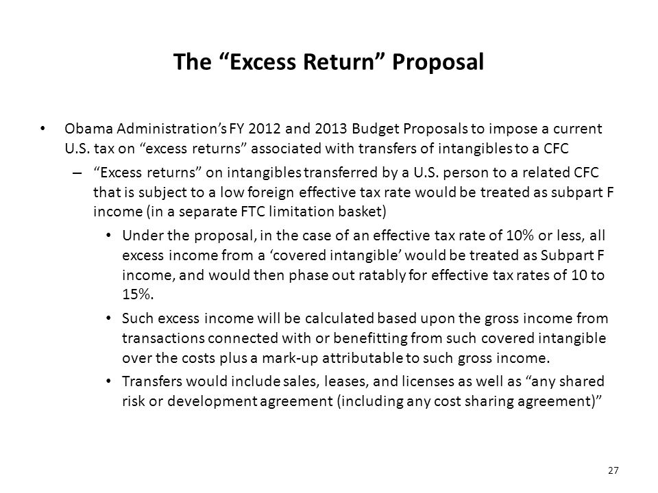 The Excess Return Proposal