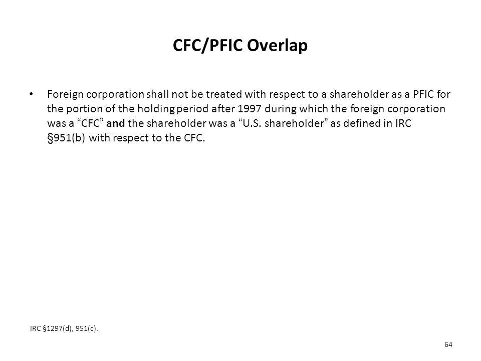 CFC/PFIC Overlap