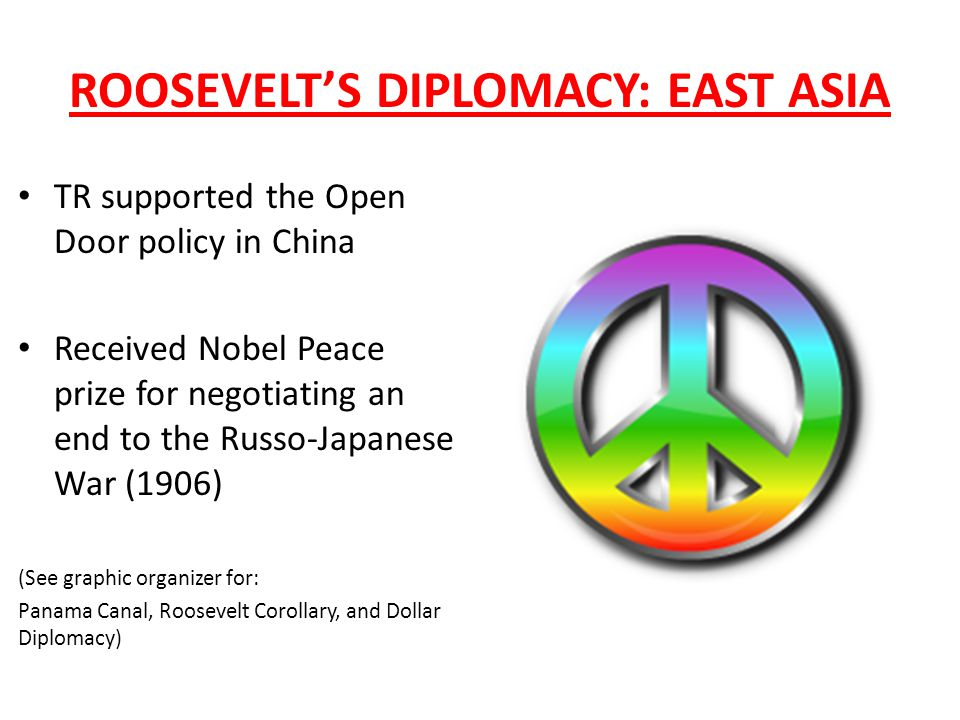 ROOSEVELT'S DIPLOMACY: EAST ASIA