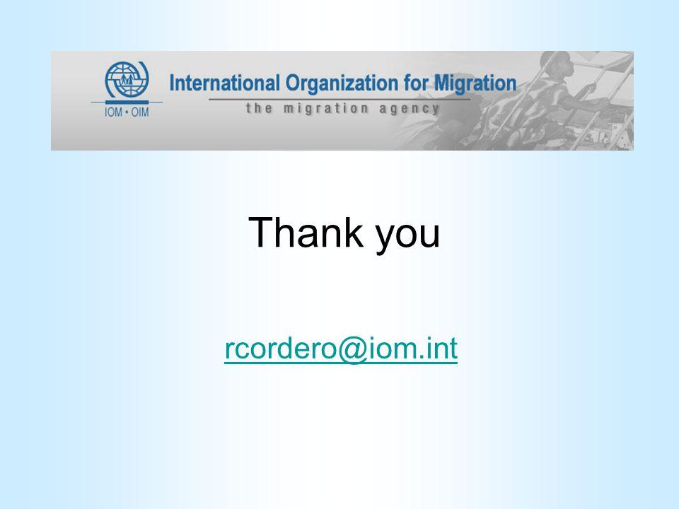 Thank you rcordero@iom.int