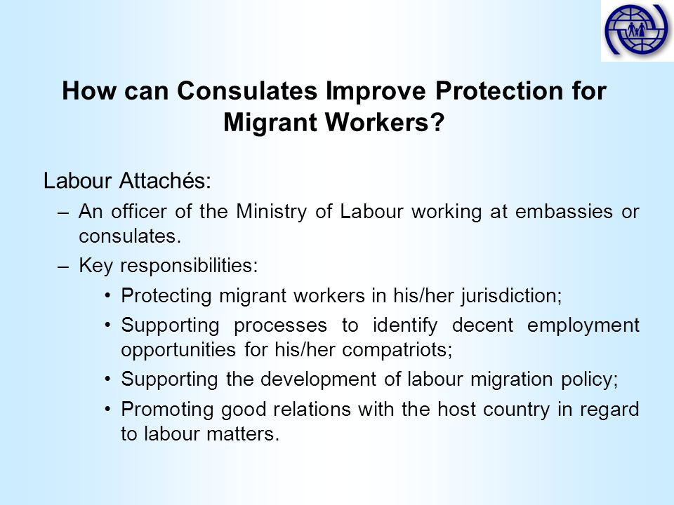 How can Consulates Improve Protection for Migrant Workers