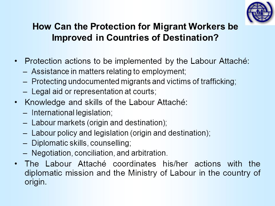 How Can the Protection for Migrant Workers be Improved in Countries of Destination