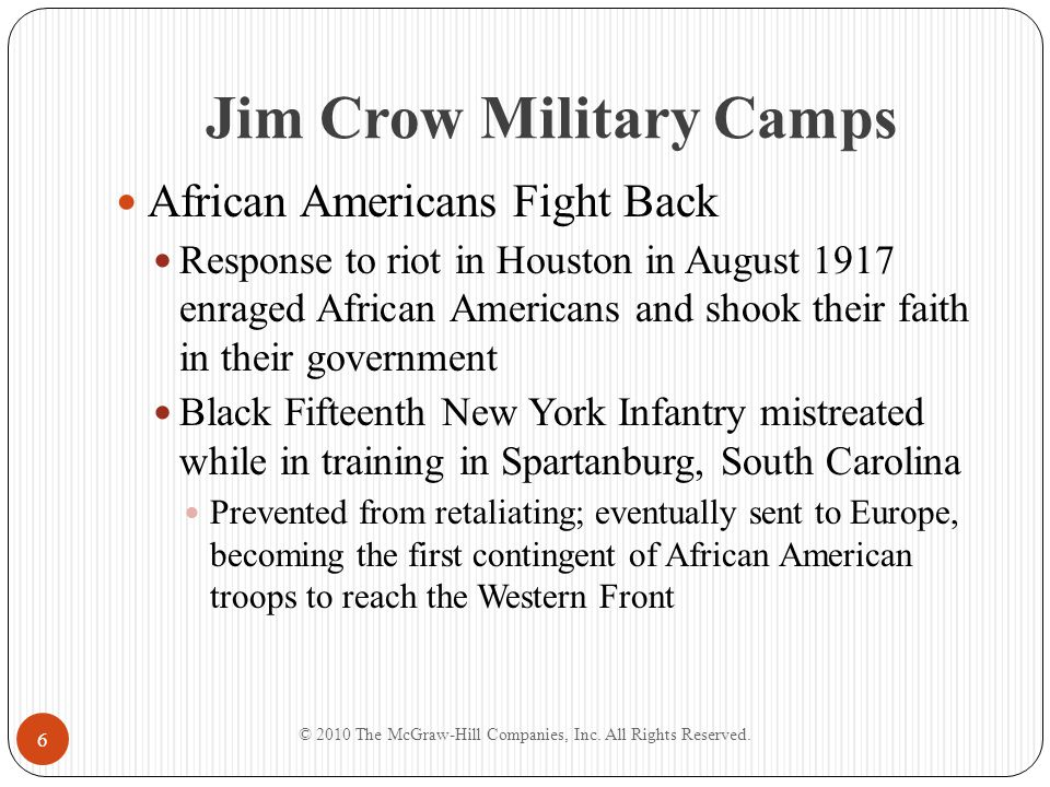 Jim Crow Military Camps