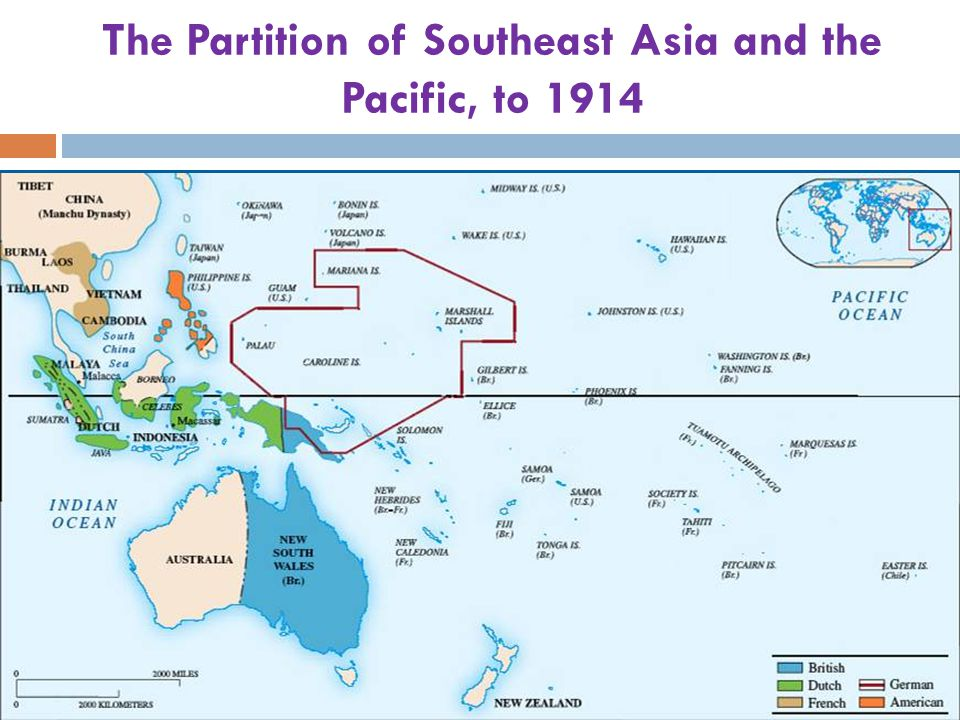 The Partition of Southeast Asia and the Pacific, to 1914